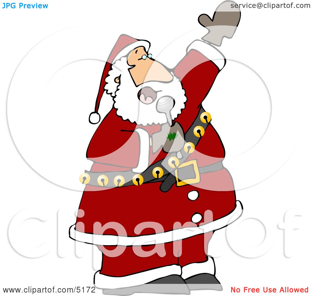 Christmas Music Clipart.Santa Singing Karaoke Christmas Music Clipart By Djart 5172
