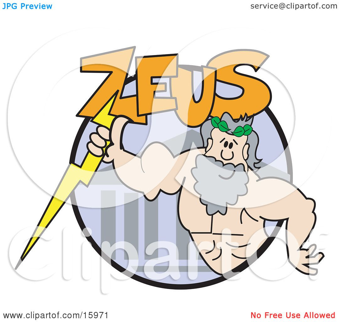 Clip Art Zeus Clipart strong male greek good zeus clipart illustration by andy nortnik nortnik