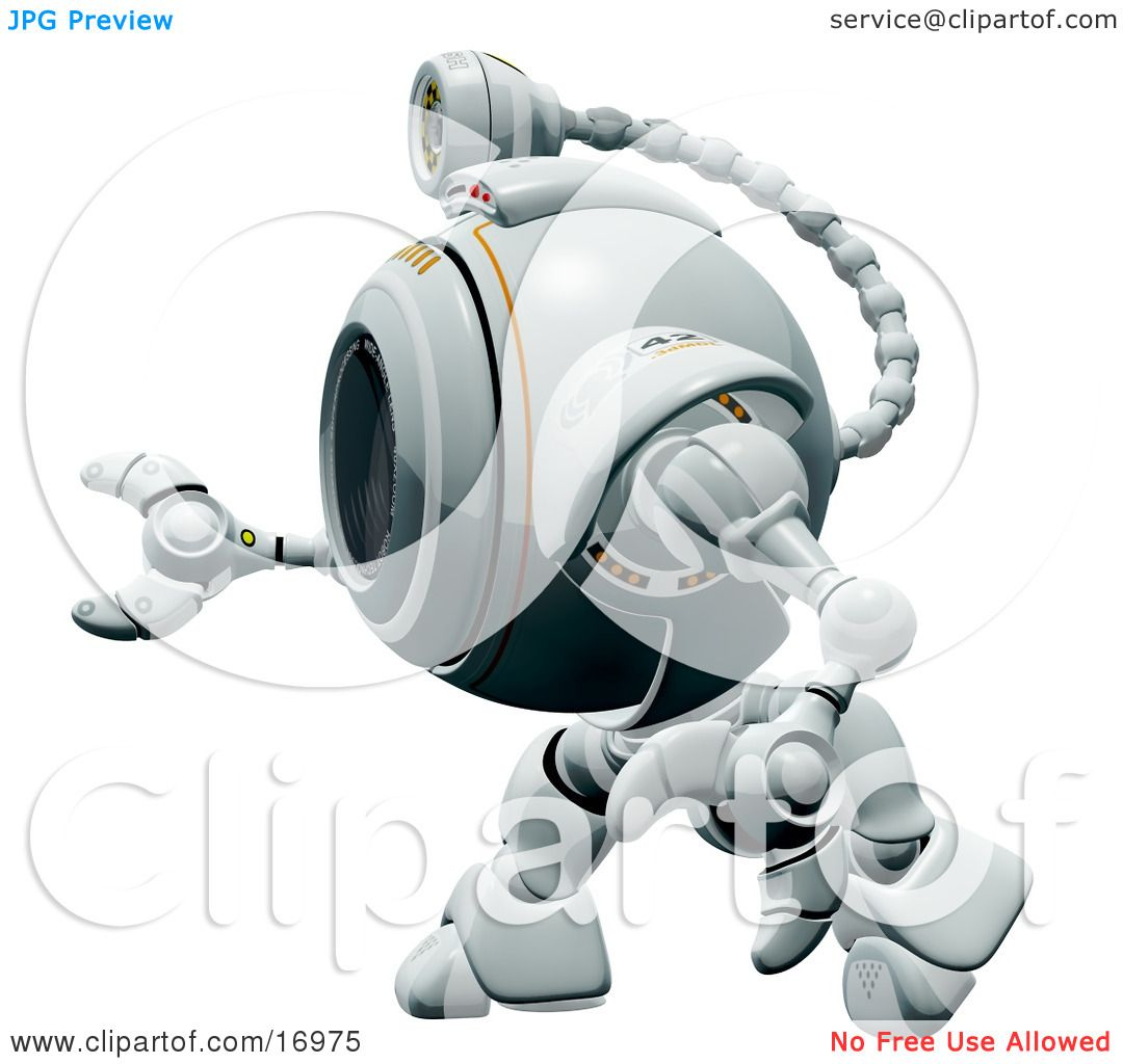 Technology Clipart Illustration Image of a Robotic Webcam in ...