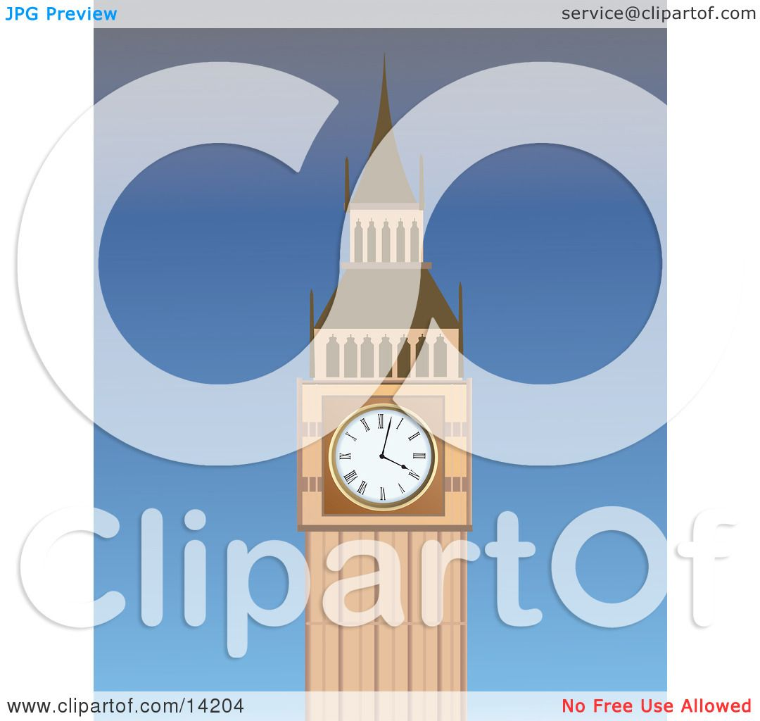 Big Ben Clock Cartoon The big ben clock tower at the