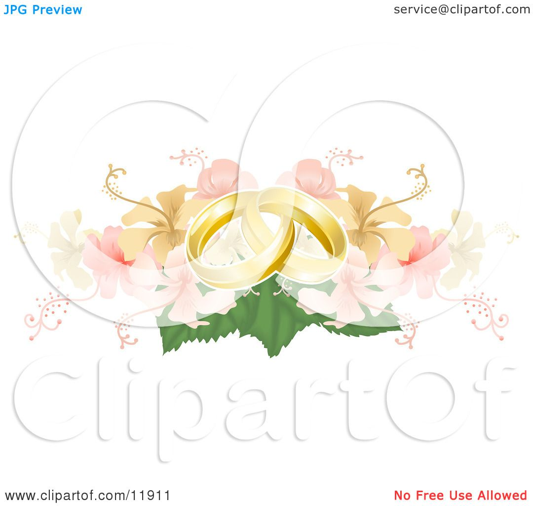 clipart picture illustration golden rings and atstockillustration yellow entwined wedding a portfolio pink on by geoimages two bouquet hibiscus
