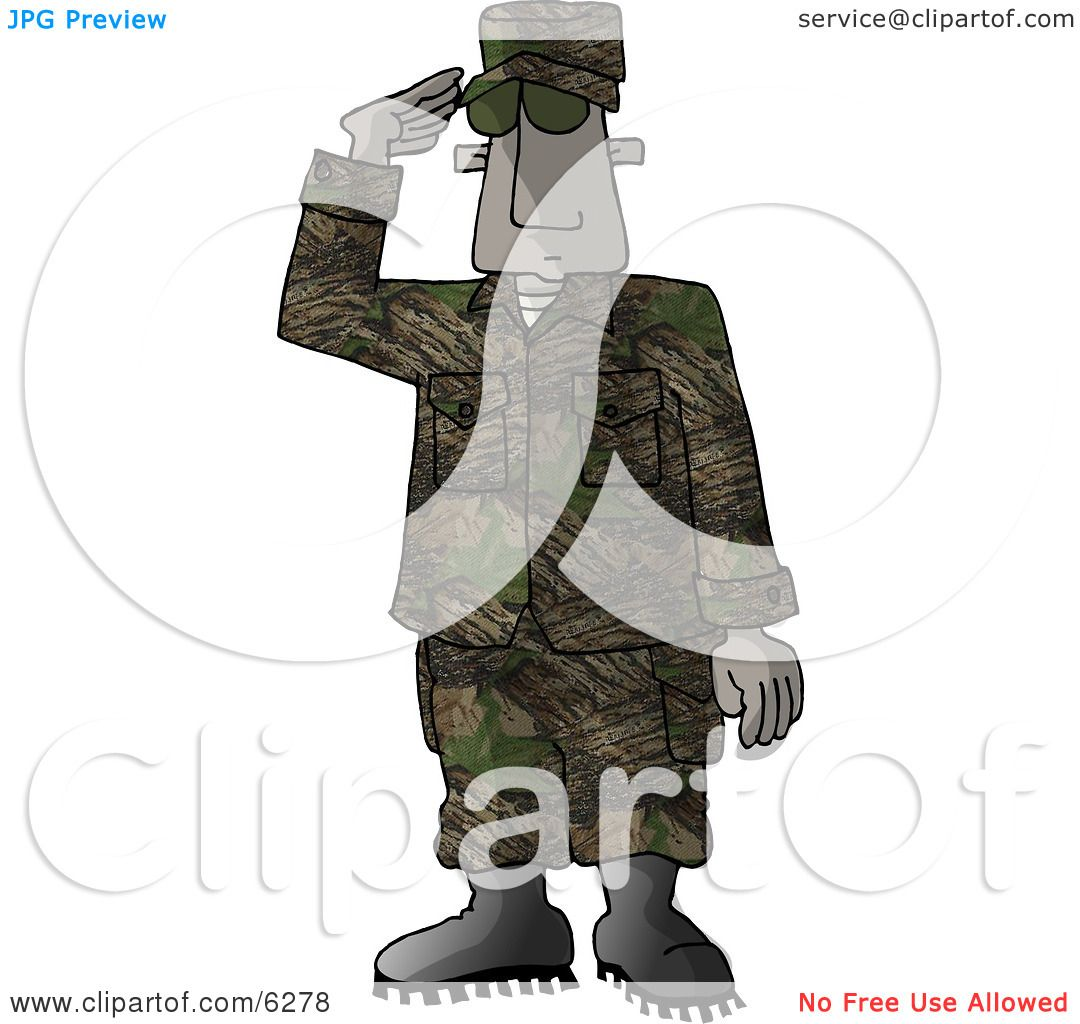 Marine Delivering a Salute - Royalty-free Clipart Picture by ...