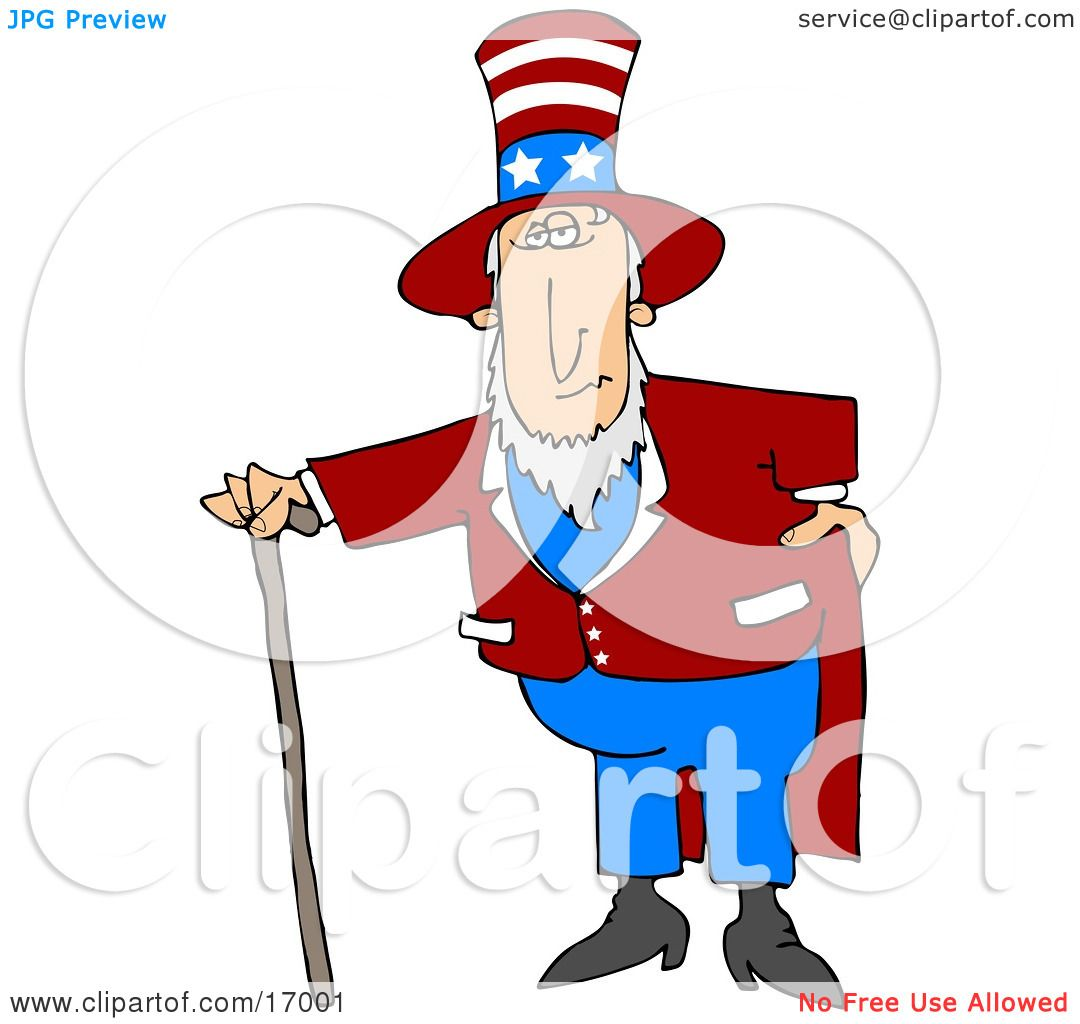 uncle sam in a red and white striped hat with stars red jacket and rh clipartof com Band Director Clip Art Band Director Clip Art