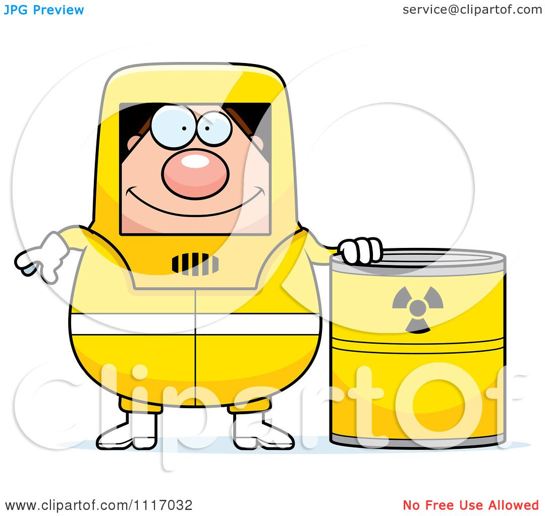Vector Cartoon Hazmat Hazardous Materials Removal Worker With A ...