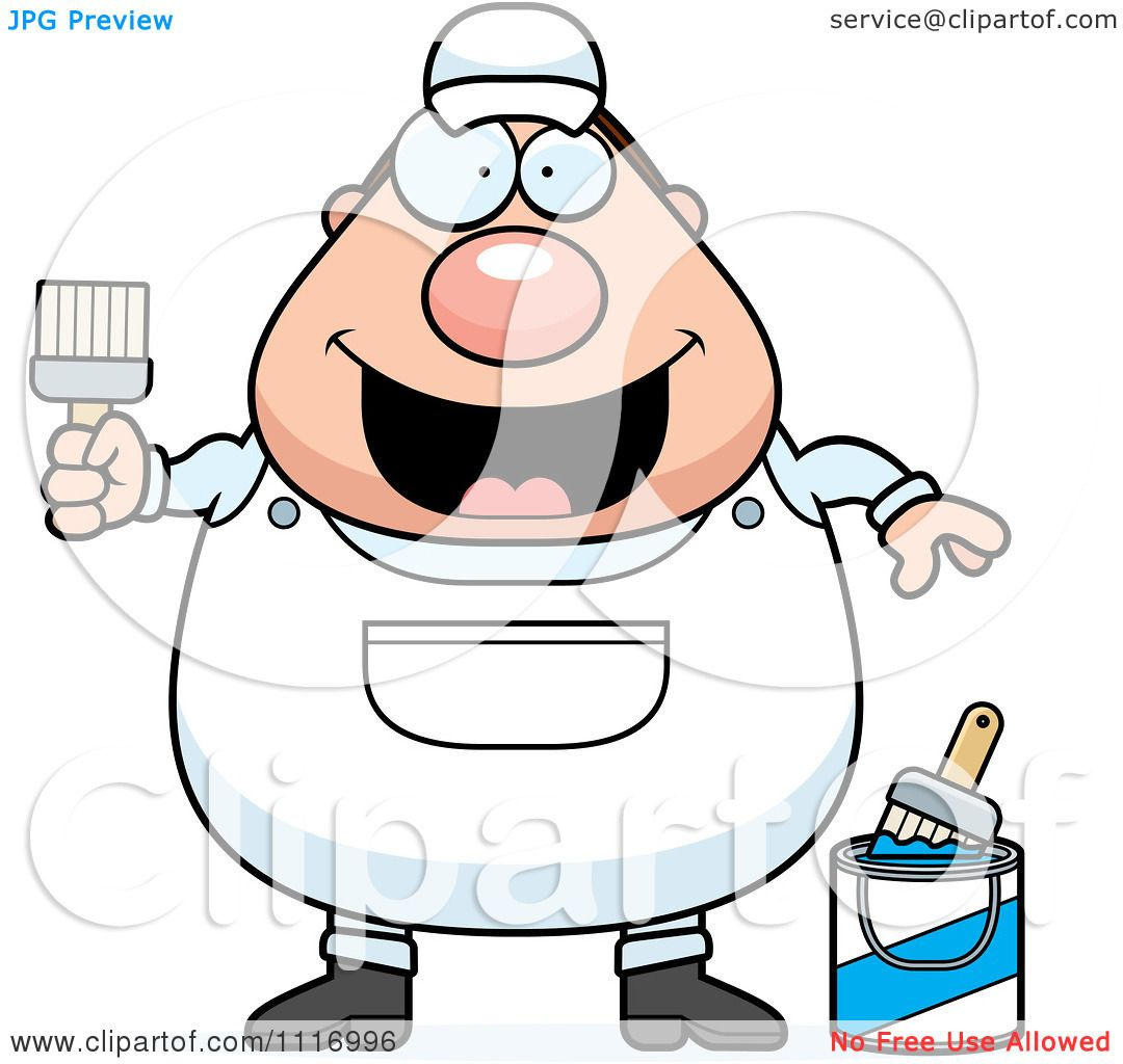 Vector Cartoon Male House Painter Worker - Royalty Free Clipart ...