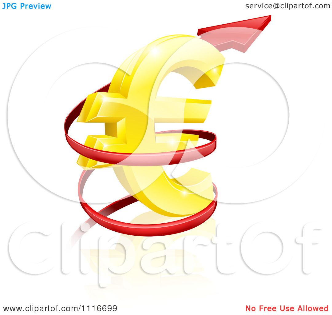 Vector clipart 3d increase spiraling red arrow around a golden vector clipart 3d increase spiraling red arrow around a golden euro currency symbol royalty free graphic illustration by atstockillustration biocorpaavc