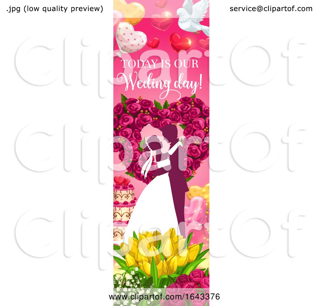 vertical wedding banner design by vector tradition sm 1643376 clipart of