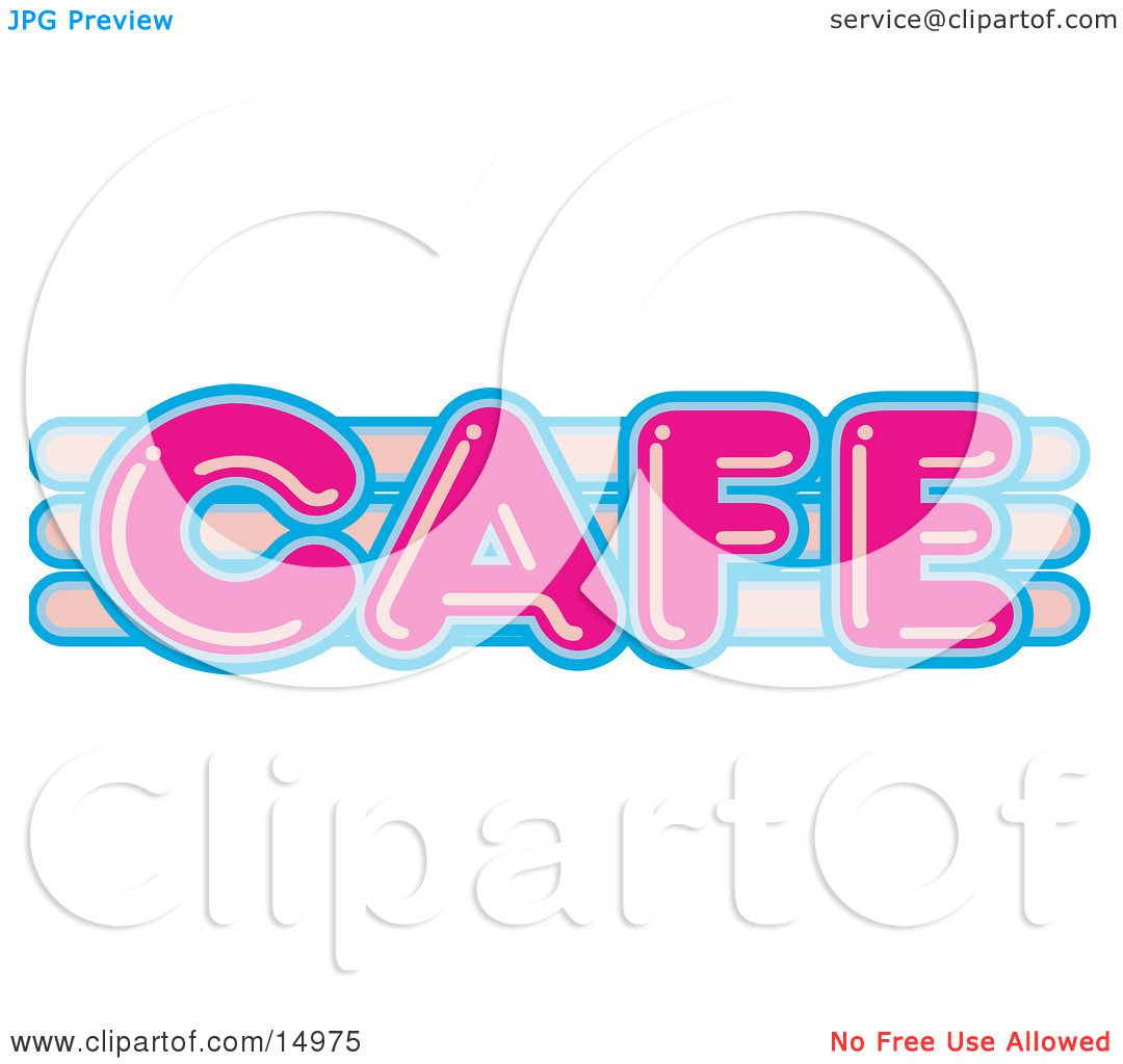Cafe Sign Clip Art And blue cafe sign clipart