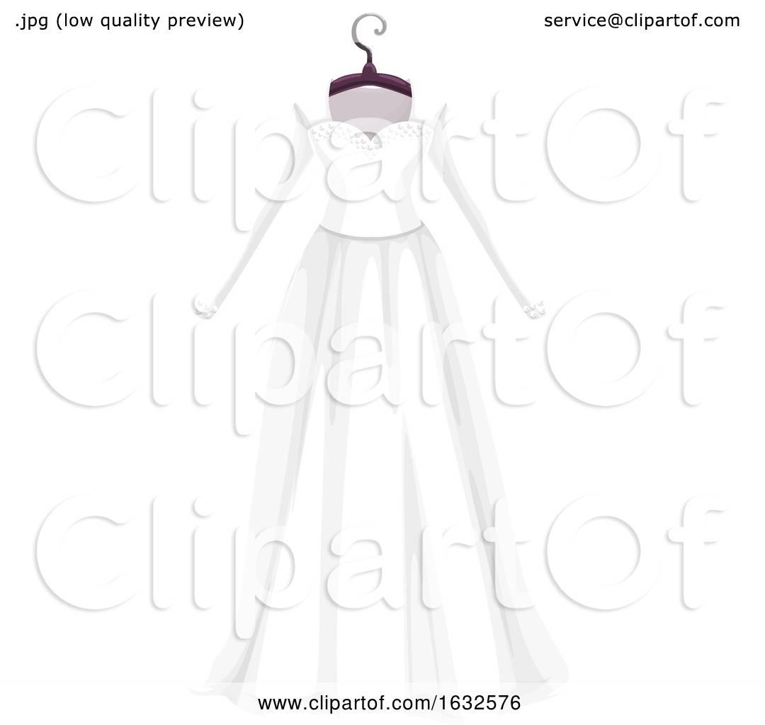 White Wedding Dress Hanger: White Wedding Dress On A Hanger By Vector Tradition SM