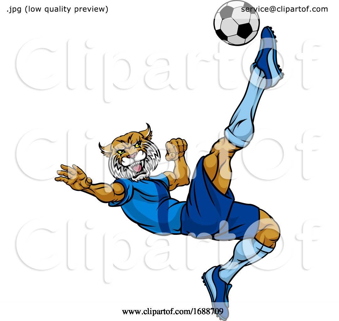Clip Art Vector - Wildcat american football mascot. Stock EPS gg105549995 -  GoGraph