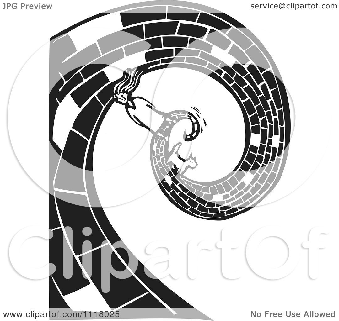 Woodcut Clipart Of A Black And White Dorothy And Toto On
