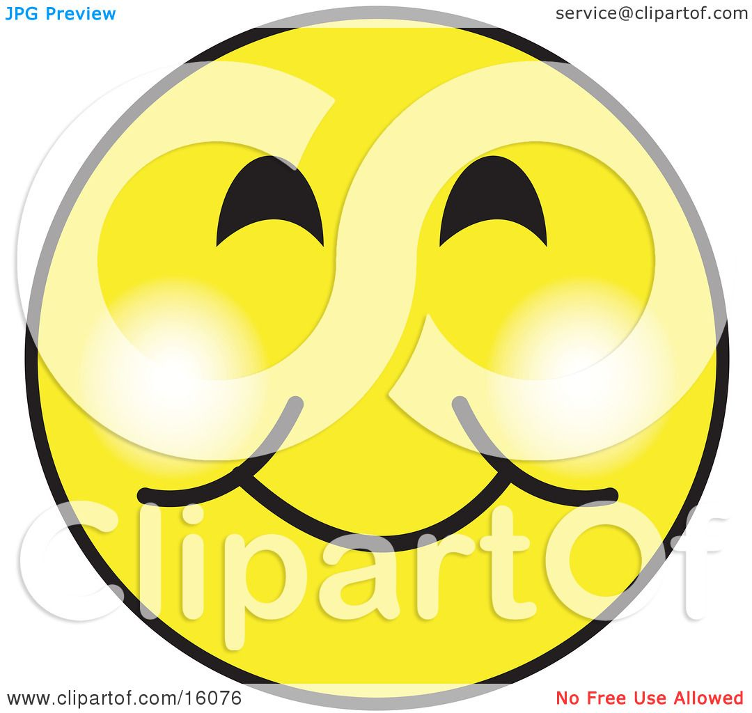 yellow smiley face graphic with a closed lip smile clipart rh clipartof com free clipart smiling sun free clipart smiling dog