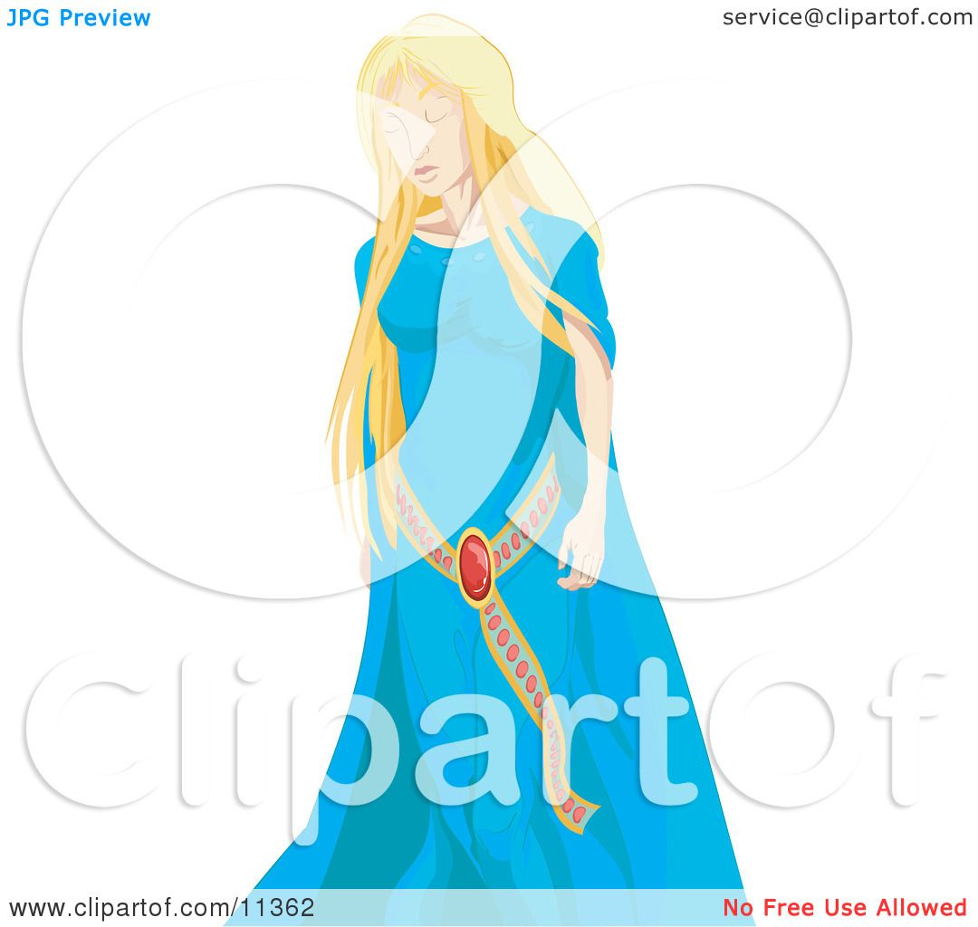 Maiden Princess Blue Adult Costume Picture