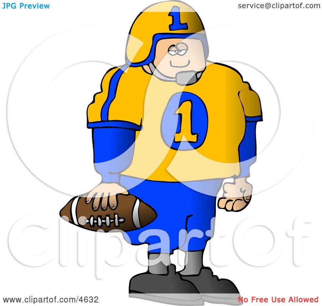 Standing Football Football Player Standing