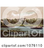 A Boat On The Thames River Near The Star And Garter Hotel Richmond London England UK Royalty Free Stock Photography