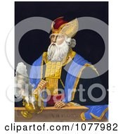 Aaron Holding An Incense Burner Royalty Free Historical Clip Art