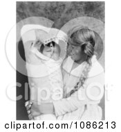 Achomawi Mother Holding Baby Free Historical Stock Photography
