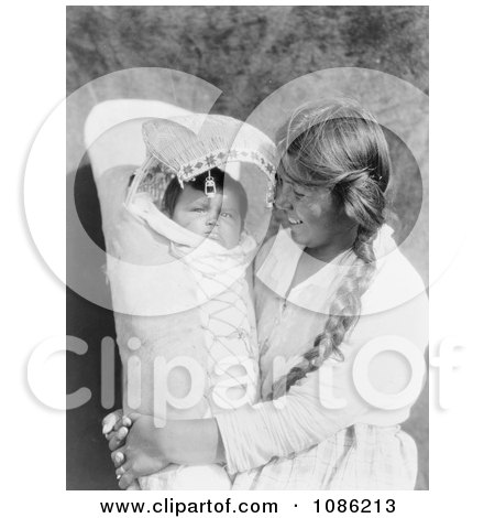 Achomawi Mother Holding Baby - Free Historical Stock Photography by JVPD