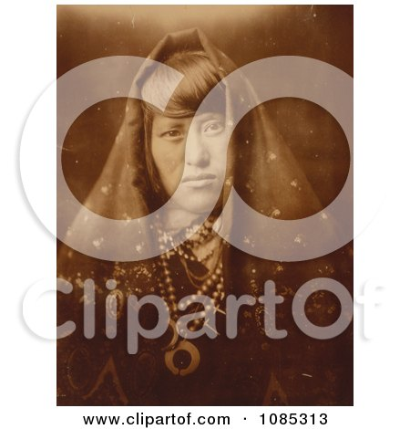 Acoma Woman With Jewelry - Free Historical Stock Photography by JVPD