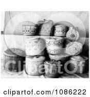 Aleutian And Eskimo Baskets Free Historical Stock Photography by JVPD