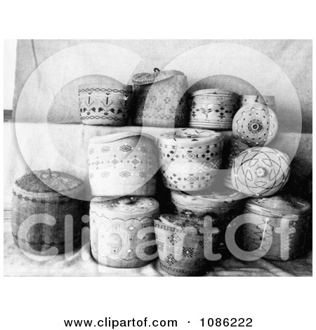 Aleutian and Eskimo Baskets - Free Historical Stock Photography by JVPD