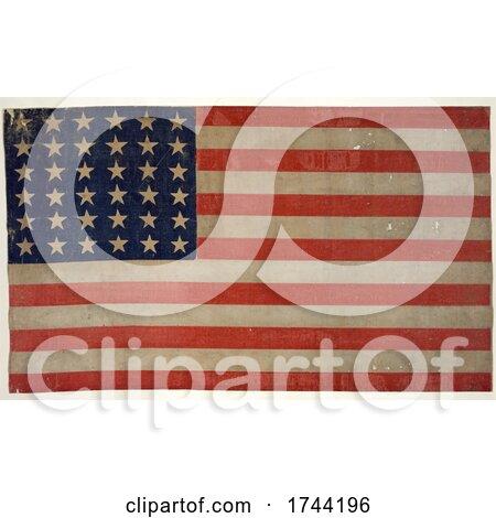 American Thirty Six Star Flag by JVPD