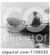 Annie Edson Taylor In A Barrel Being Rowed To A Drop Off Point At Niagara Royalty Free Historical Stock Photography