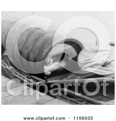 Annie Edson Taylor in Her Barrel, 1901 - Royalty Free Historical Stock Photography by JVPD