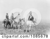 Apsaroke Indian Chief And Staff Free Historical Stock Photography
