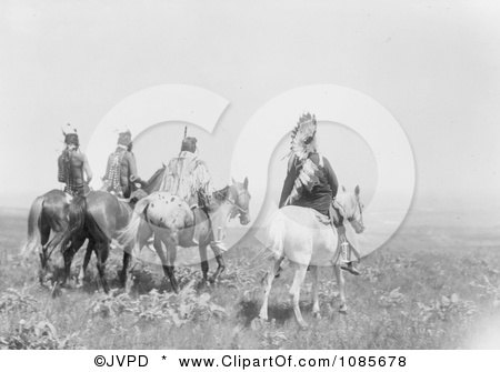 Apsaroke Indian Chief and Staff - Free Historical Stock Photography by JVPD