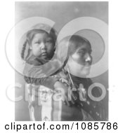 Apsaroke Indian Mother With Child On Her Back Free Historical Stock Photography