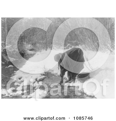 Apsaroke Indian Woman Gathering Water - Free Historical Stock Photography by JVPD