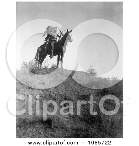 Apsaroke Man With Bow and Arrows on Horse - Free Historical Stock Photography by JVPD