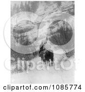 Apsaroke Men Hunting In Winter Free Historical Stock Photography