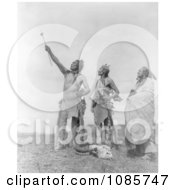 Apsaroke Men With Rifles And Skull Free Historical Stock Photography