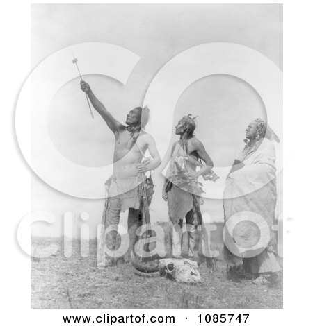 Apsaroke Men With Rifles and Skull - Free Historical Stock Photography by JVPD