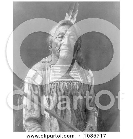 Apsaroke Native American Indian Man Named Sitting Elk - Free Historical Stock Photography by JVPD