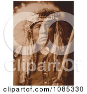 Apsaroke Native American Man Called Curley Free Historical Stock Photography