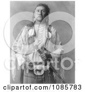 Apsaroke Native Man Holding A Tomahawk Free Historical Stock Photography