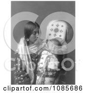 Apsaroke Native Woman With Baby Free Historical Stock Photography