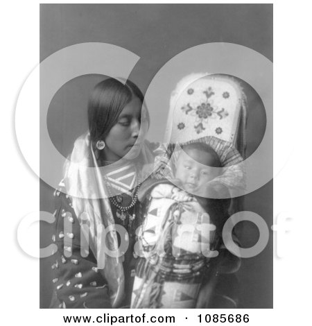 Apsaroke Native Woman With Baby - Free Historical Stock Photography by JVPD