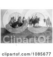 Apsaroke Natives On Horseback Free Historical Stock Photography