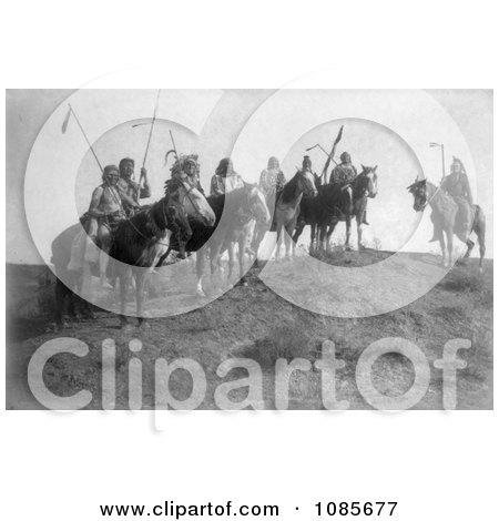 Apsaroke Natives on Horseback - Free Historical Stock Photography by JVPD