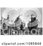 Atsina Indians Shooting Arrows Free Historical Stock Photography