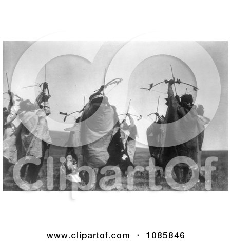 Atsina Indians Shooting Arrows - Free Historical Stock Photography by JVPD