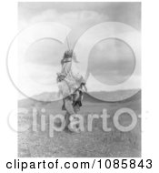 Atsina Man Holding Rifle Free Historical Stock Photography by JVPD