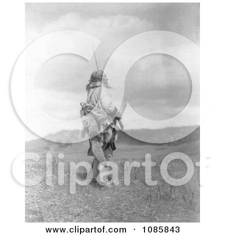 Atsina Man Holding Rifle - Free Historical Stock Photography by JVPD