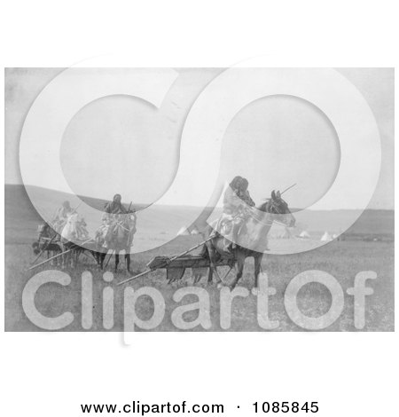 Atsina Native Americans Moving Their Camp - Free Historical Stock Photography by JVPD