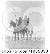 Atsina Native Chiefs On Horses Free Historical Stock Photography