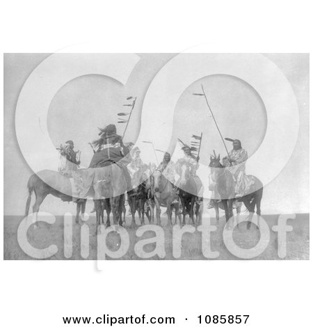 Atsina Warriors on Horses - Free Historical Stock Photography by JVPD